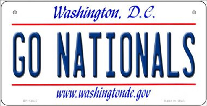 Go Nationals Novelty Metal Bicycle Plate BP-13537