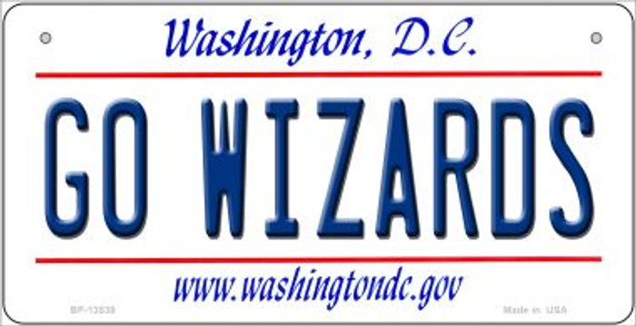 Go Wizards Novelty Metal Bicycle Plate BP-13539