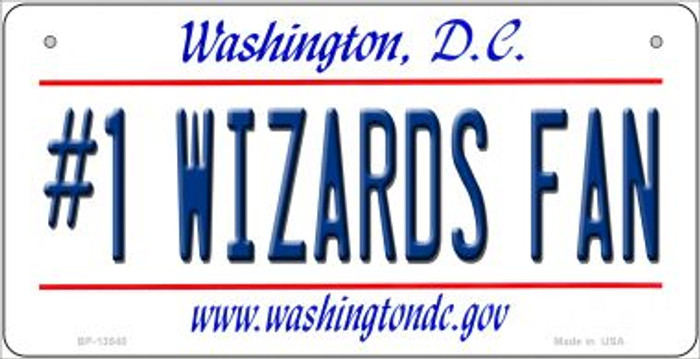 Number 1 Wizards Fan Novelty Metal Bicycle Plate BP-13540