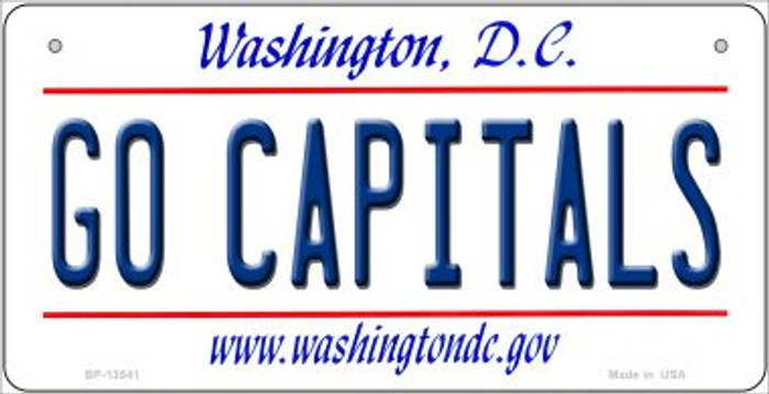 Go Capitals Novelty Metal Bicycle Plate BP-13541