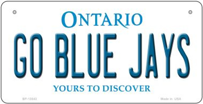 Go Blue Jays Novelty Metal Bicycle Plate BP-13543