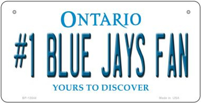 Number 1 Blue Jays Fan Novelty Metal Bicycle Plate BP-13544