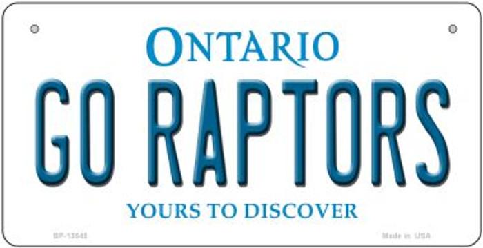 Go Raptors  Novelty Metal Bicycle Plate BP-13545