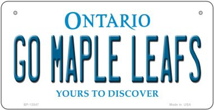 Go Maple Leafs Novelty Metal Bicycle Plate BP-13547