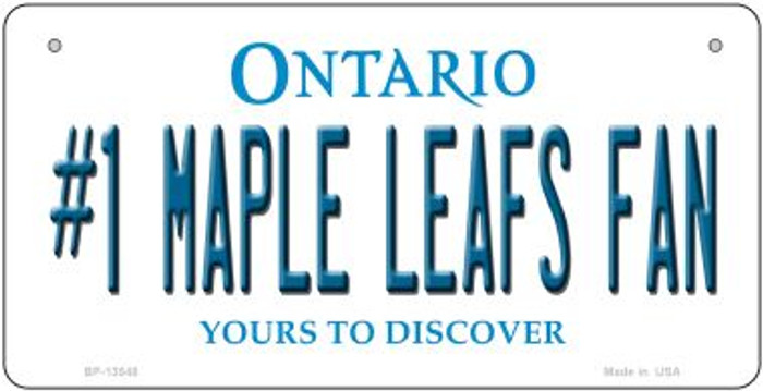 Number 1 Maple Leafs Fan Novelty Metal Bicycle Plate BP-13548