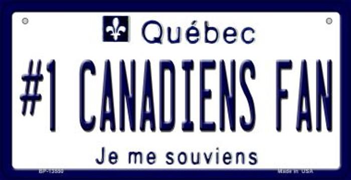 Number 1 Canadiens Fan Novelty Metal Bicycle Plate BP-13550
