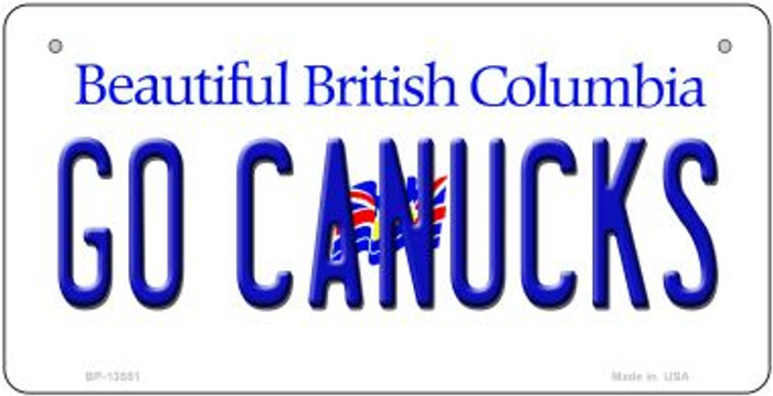 Go Canucks Novelty Metal Bicycle Plate BP-13551