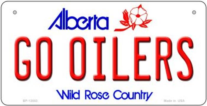 Go Oilers Novelty Metal Bicycle Plate BP-13553