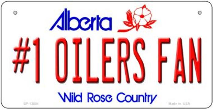 Number 1 Oilers Fan Novelty Metal Bicycle Plate BP-13554