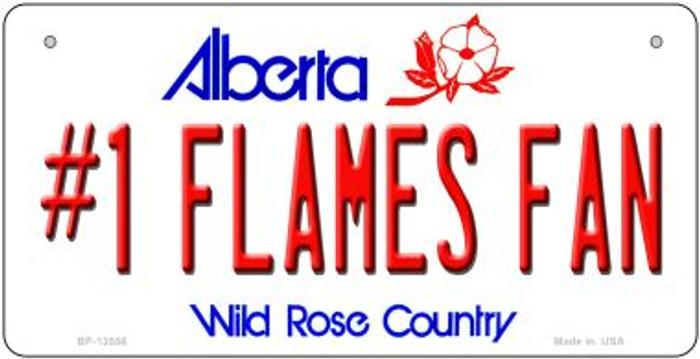 Number 1 Flames Fan Novelty Metal Bicycle Plate BP-13556