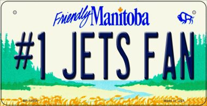 Number 1 Jets Fan Novelty Metal Bicycle Plate BP-13558