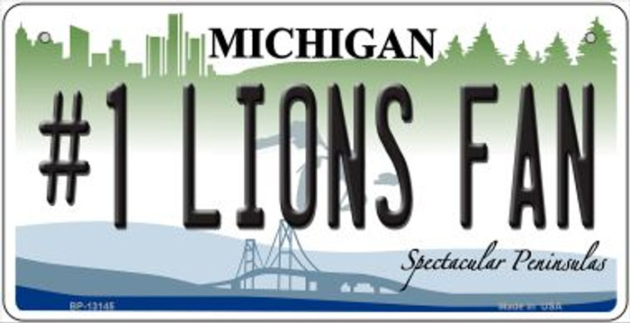 Number 1 Lions Fan Novelty Metal Bicycle Plate BP-13145