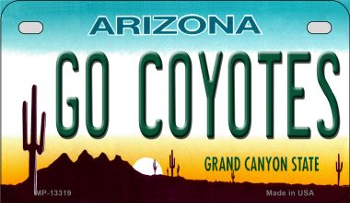 Go Coyotes Novelty Metal Motorcycle Plate MP-13319