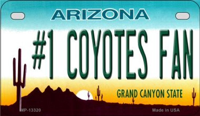 Number 1 Coyotes Fan Novelty Metal Motorcycle Plate MP-13320