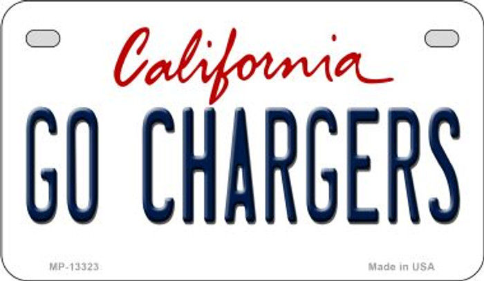 Go Chargers Novelty Metal Motorcycle Plate MP-13323