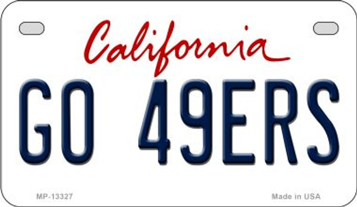 Go 49ers Novelty Metal Motorcycle Plate MP-13327