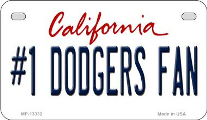 Number 1 Dodgers Fan Novelty Metal Motorcycle Plate MP-13332