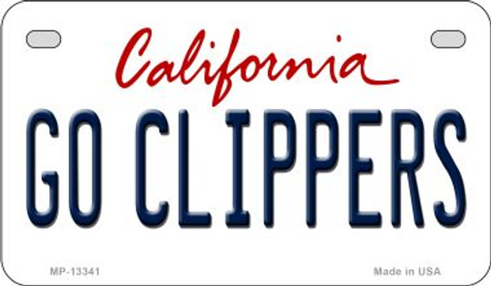 Go Clippers Novelty Metal Motorcycle Plate MP-13341