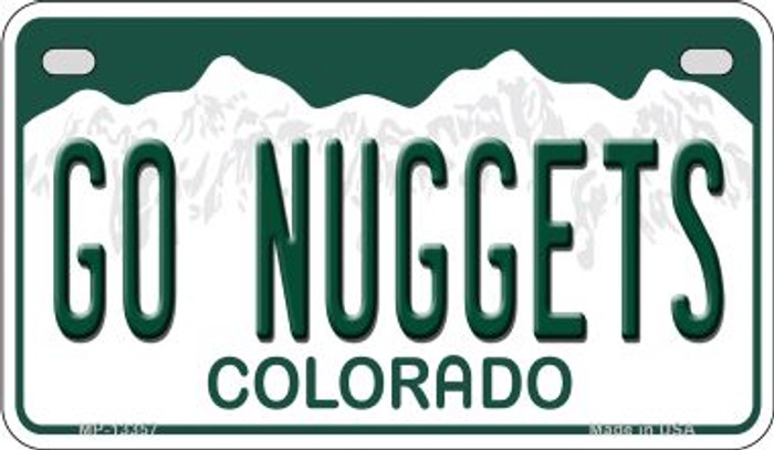 Go Nuggets Novelty Metal Motorcycle Plate MP-13357