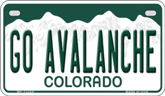 Go Avalanche Novelty Metal Motorcycle Plate MP-13359