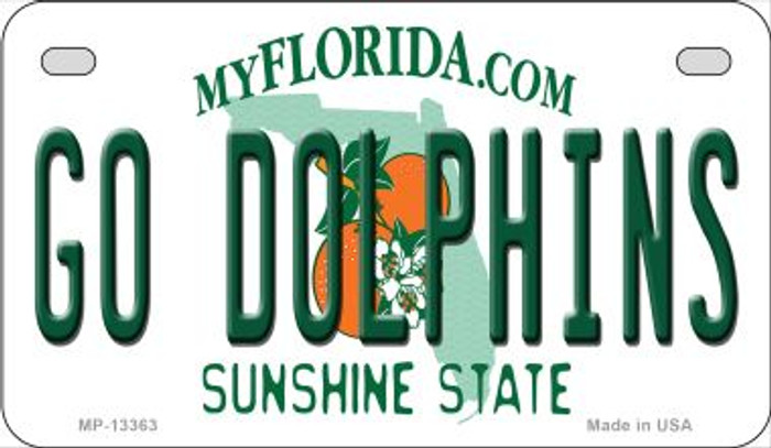 Go Dolphins Novelty Metal Motorcycle Plate MP-13363
