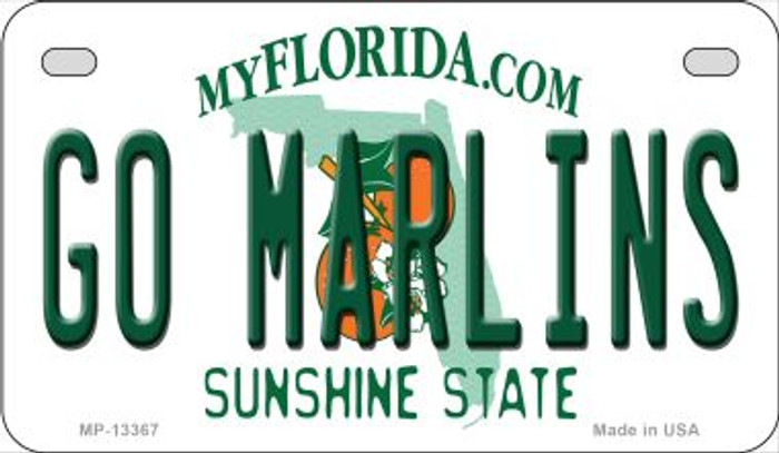 Go Marlins Novelty Metal Motorcycle Plate MP-13367