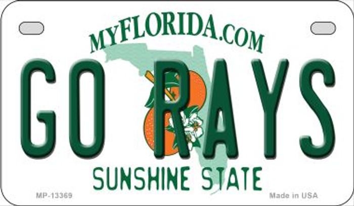 Go Rays Novelty Metal Motorcycle Plate MP-13369