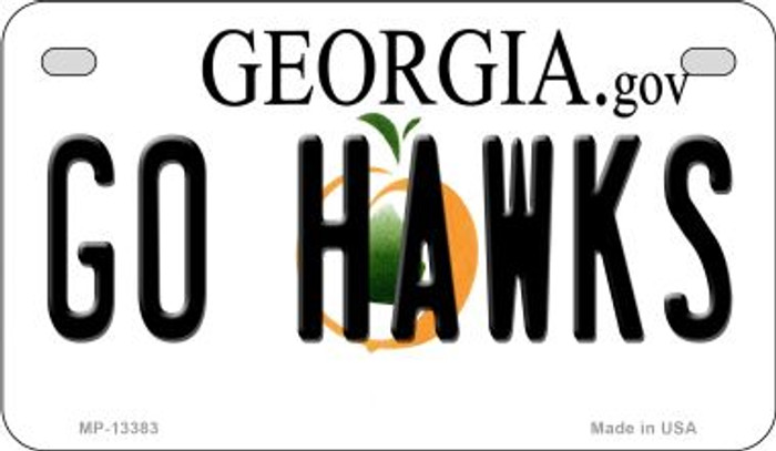 Go Hawks Novelty Metal Motorcycle Plate MP-13383