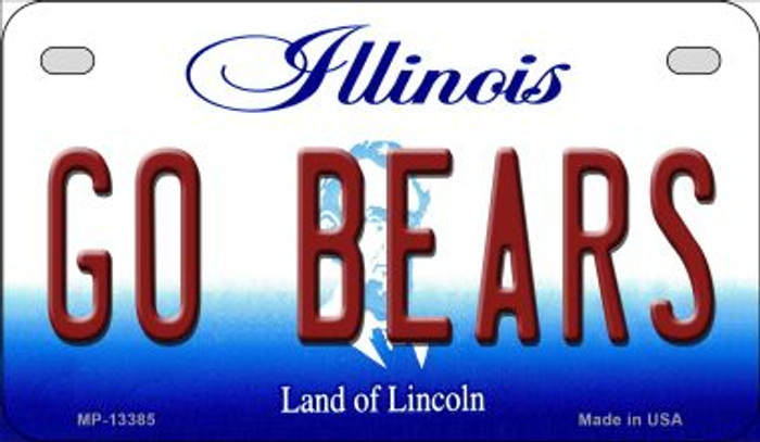 Go Bears Novelty Metal Motorcycle Plate MP-13385