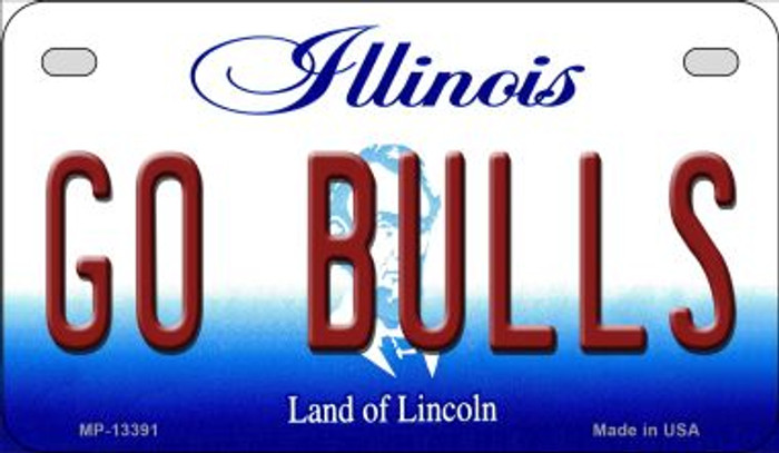 Go Bulls Novelty Metal Motorcycle Plate MP-13391