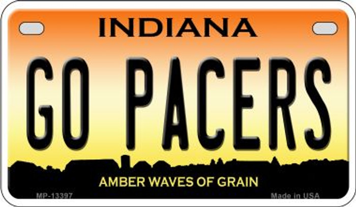 Go Pacers Novelty Metal Motorcycle Plate MP-13397