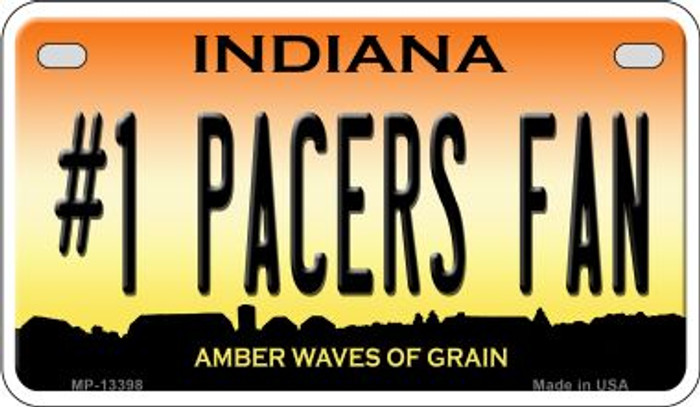 Number 1 Pacers Fan Novelty Metal Motorcycle Plate MP-13398