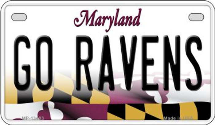 Go Ravens Novelty Metal Motorcycle Plate MP-13403