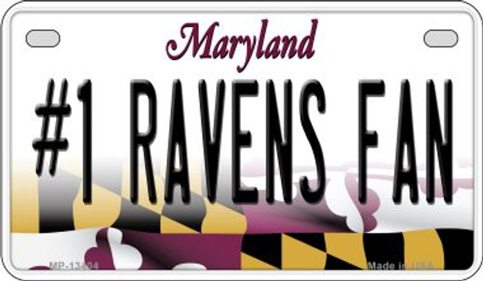 Number 1 Ravens Fan Novelty Metal Motorcycle Plate MP-13404