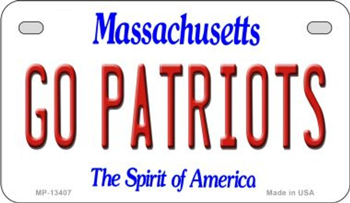 Go Patriots Novelty Metal Motorcycle Plate MP-13407
