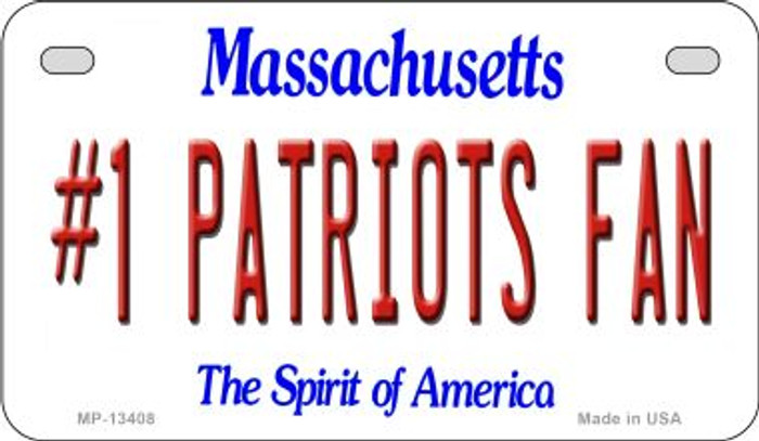Number 1 Patriots Fan Novelty Metal Motorcycle Plate MP-13408