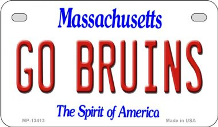 Go Bruins Novelty Metal Motorcycle Plate MP-13413