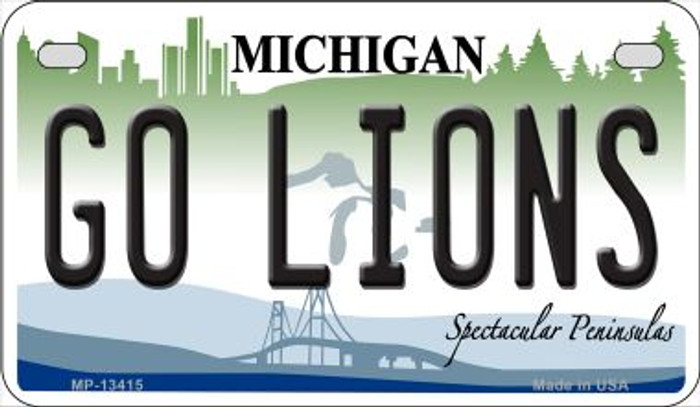 Go Lions Novelty Metal Motorcycle Plate MP-13415