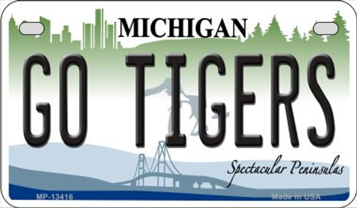 Go Tigers Novelty Metal Motorcycle Plate MP-13416