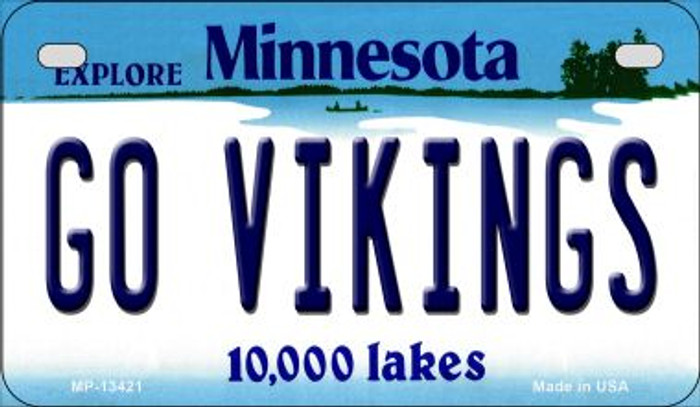Go Vikings Novelty Metal Motorcycle Plate MP-13421