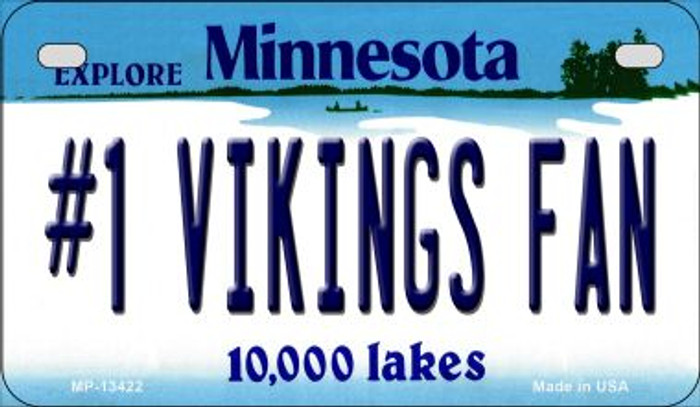 Number 1 Vikings Fan Novelty Metal Motorcycle Plate MP-13422