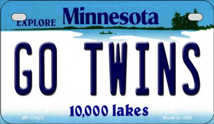 Go Twins Novelty Metal Motorcycle Plate MP-13423