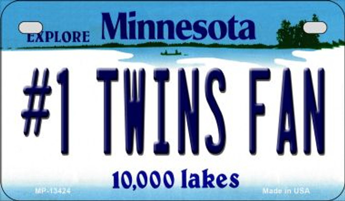 Number 1 Twins Fan Novelty Metal Motorcycle Plate MP-13424