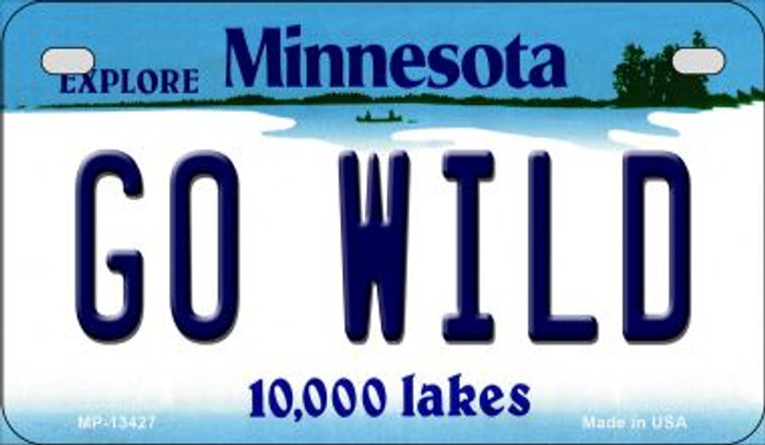 Go Wild Novelty Metal Motorcycle Plate MP-13427