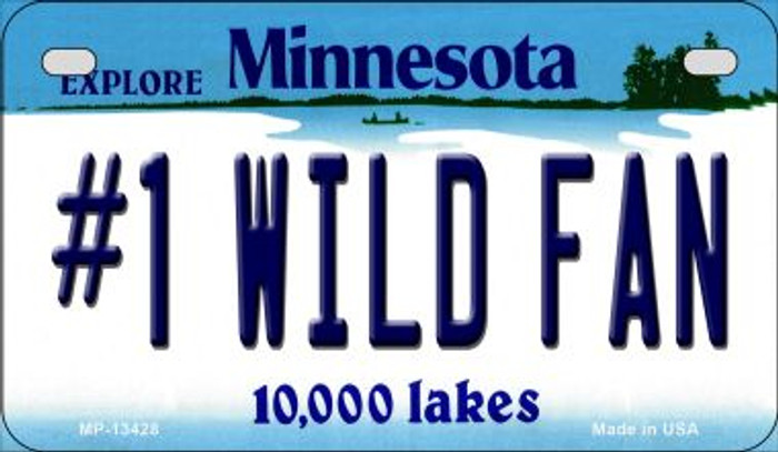 Number 1 Wild Fan Novelty Metal Motorcycle Plate MP-13428