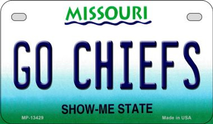 Go Chiefs Novelty Metal Motorcycle Plate MP-13429