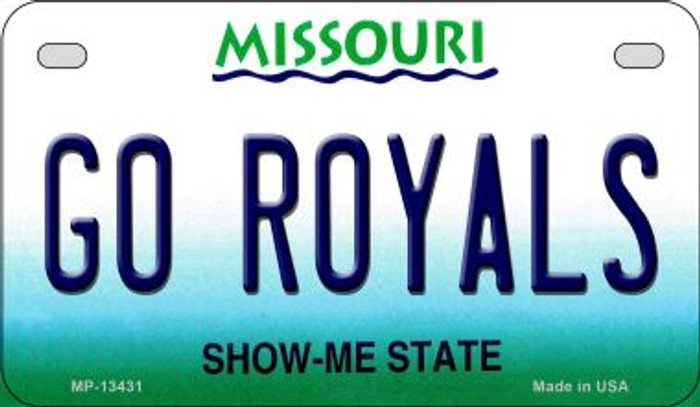 Go Royals Novelty Metal Motorcycle Plate MP-13431