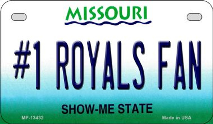 Number 1 Royals Fan Novelty Metal Motorcycle Plate MP-13432