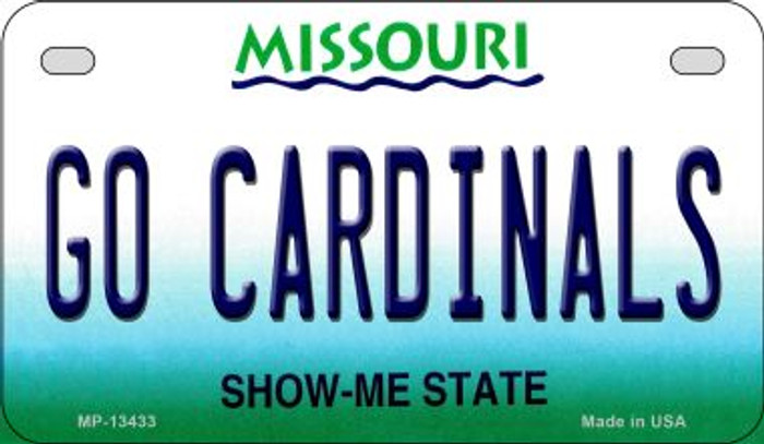 Go Cardinals Novelty Metal Motorcycle Plate MP-13433