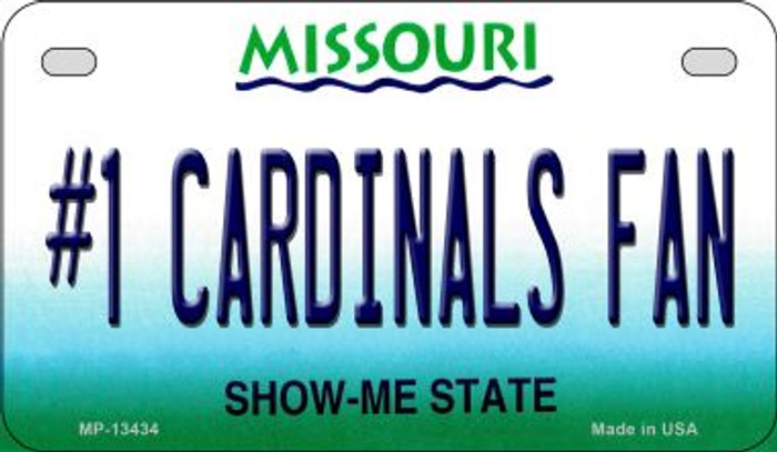 Number 1 Cardinals Fan Novelty Metal Motorcycle Plate MP-13434